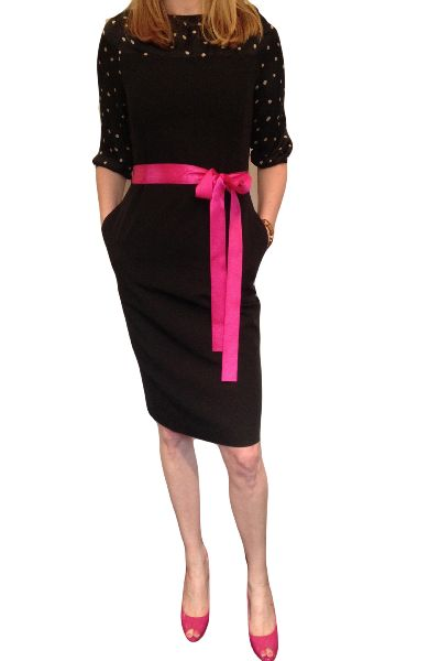 Polka dots. Pink ribbon. Black dress. That's all I have to say.