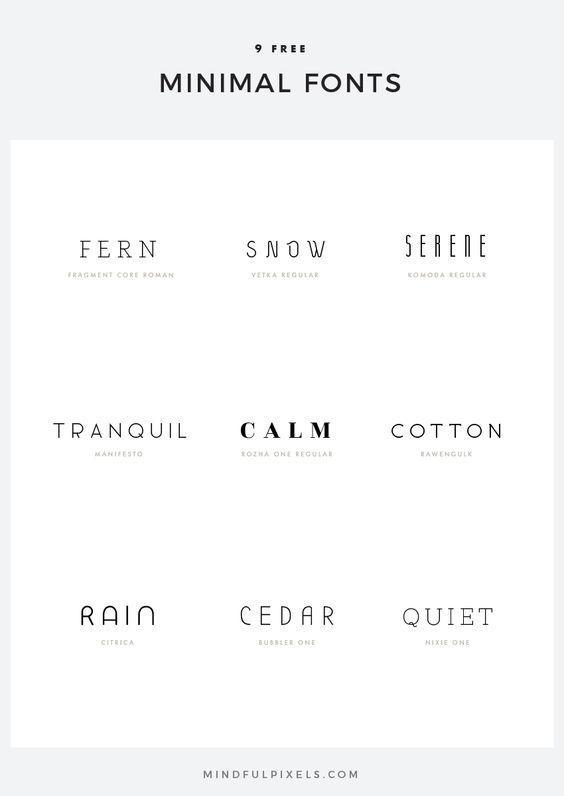 9 Free Minimal Fonts Mit Bildern Schriftarten Kostenlose