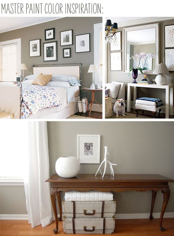 The project house update paint color inspiration for Waynesboro taupe benjamin moore