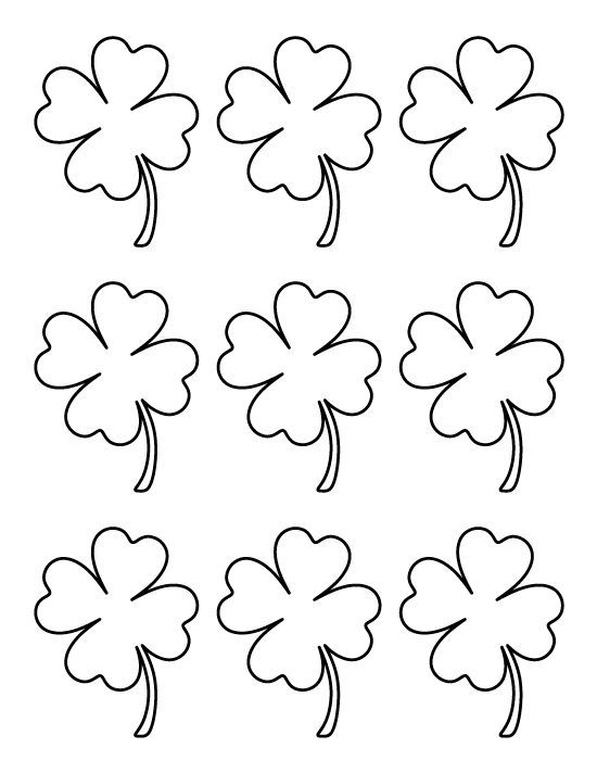 Printable Small Four Leaf Clover Pattern Use The Pattern For