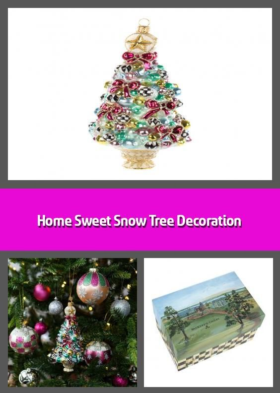 Home Sweet Snow Tree Decoration Christmas Tree Ornament Material Glass Dimensions H16 5x11 4cm In 2020 Tree Decorations Christmas Tree Decorations Christmas Bulbs