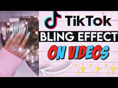 How To Get The Bling Effect On A Tiktok Video Sparkle Effect Youtube Bling Editing Tutorials Aesthetic Videos