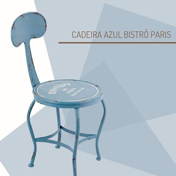 Diretamente da feira ABUP para o Casa de Valentina! Essa cadeira de estilo industrial vai ficar linda na sua varanda! http://www.casadevalentina.com.br/produtos/detalhes/cadeira-azul-bistro-paris-em-ferro-oldway-25210 #decor #decoracao #interior #design #casa #home #house #idea #ideia #detalhes #details #style #estilo #casadevalentina #produtos #products #blue #azul