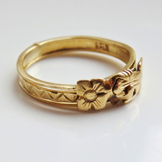 finest scottish 18ct gold fede gimmel ring wedding
