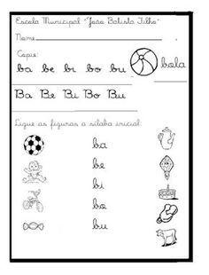 Resultado De Imagem Para Atividades Letra B Atividades Letra E