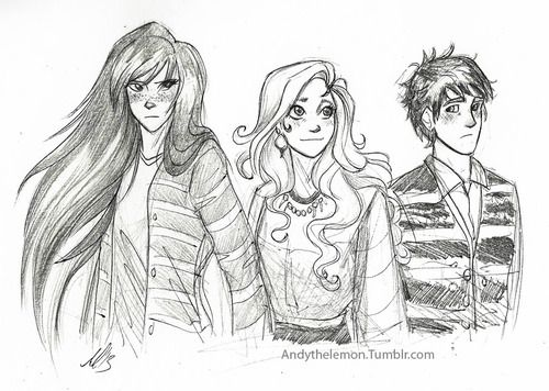 Never drawn these three together before… also I imagine Neville to have bed hair 24/7 :POriginal sketch available here.