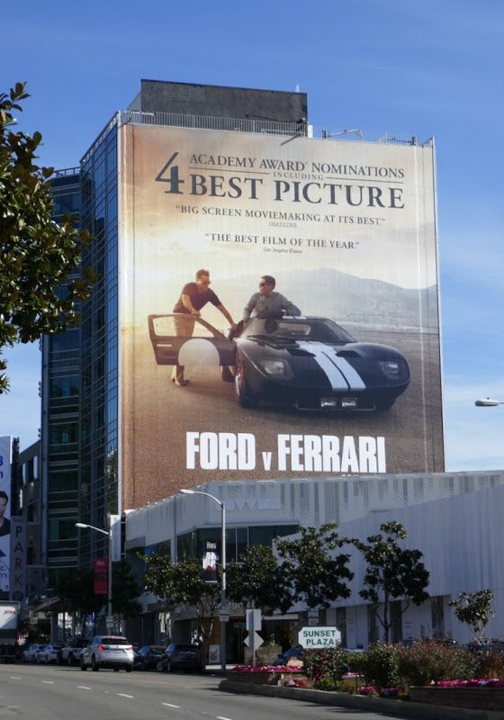 Giant Ford V Ferrari Oscar Nominee Billboard Sunset Strip In 2020