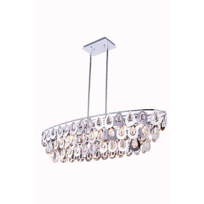 Elegant Lighting Sophia 7 Light Crystal Pendant