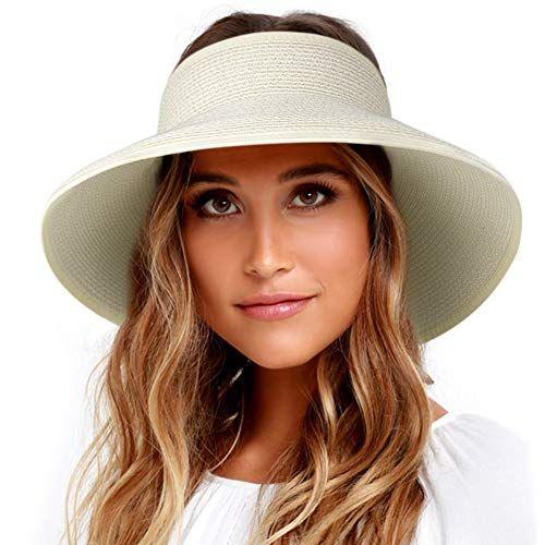 FURTALK Sun Hats for Women Brim Straw Hat Beach Hat UPF UV Packable Cap for Travel
