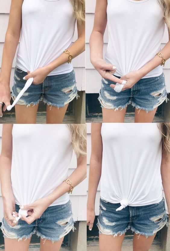 How To Tie A Knot In A Shirt 5 Cute Ways For Knotted T Shirt Trend Fall Fashion Jeans Knotted Shirt Outfit Fashion