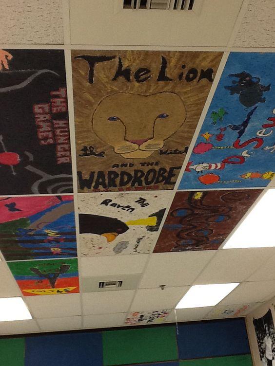 Classroom Painting Ideas ~ Painted ceiling tiles classroom ideas pinterest