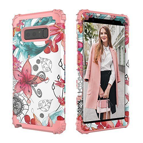 Galaxy Note 8 Flower Heavy Duty Full Body Protect Case Girly Women Luxury Life Phone Cases Cell Phone Cases Case
