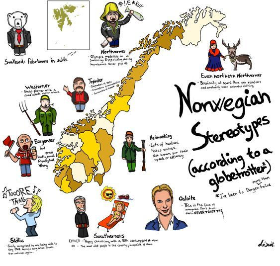 Norwegian Stereotypes Map