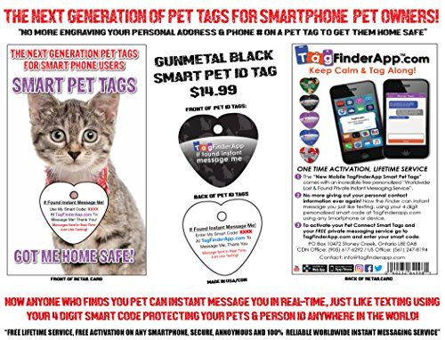 Tagfinderapp Next Generation Smart Pet Id Tag With Smartp Https Www Amazon Com Dp B077t54bgm Ref Cm Sw R Pi Dp U X Hx6sabsfy Pet Id Tags Pet Tags Petsmart