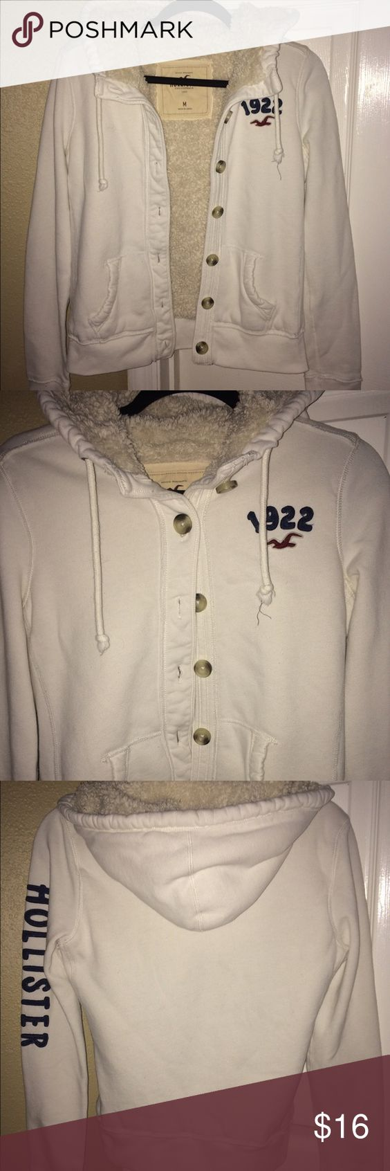 Hollister Jacket Hollister hoodie/jacket, size M, fits true to size, wore, but still very nice condition Hollister Tops Sweatshirts & Hoodies