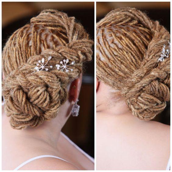 Fancy Dreadlocks Updo, weddings, dances, parties, sophisticated dreads, neat and tidy