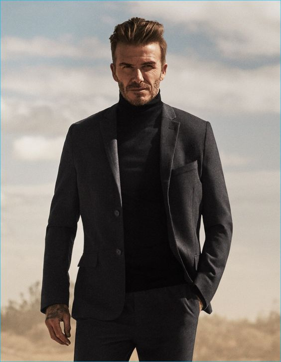 David Beckham is clad in black for H&M's fall-winter 2016 Modern Essentials…