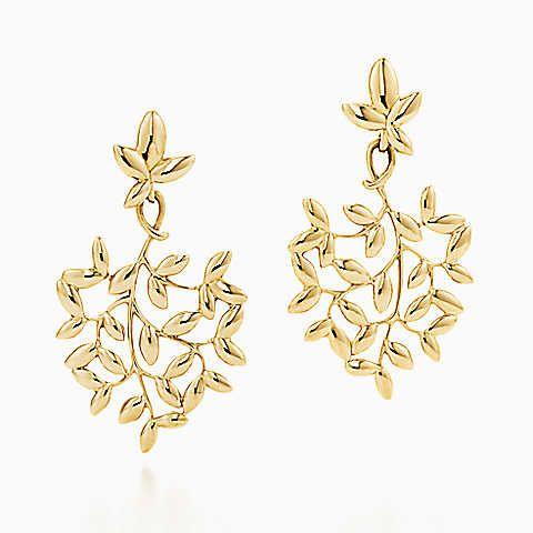 Pendants d'oreilles en or 18carats, Feuille d'olivier par Paloma Picasso®.