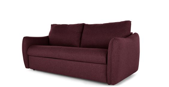 Jefferson, grand canapé convertible, tweed rouge malbec   made.com