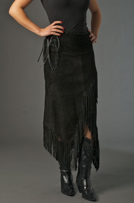 This Black Cowhide suede skirt is one of the most sexy and unusual ...
