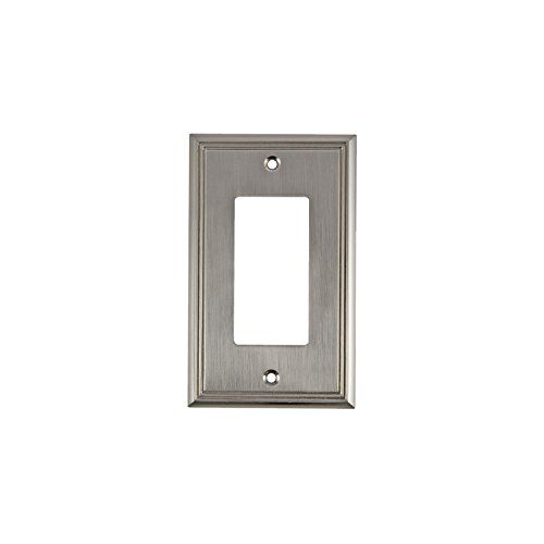Rok Hardware Wall Plate Contemporary Decorative Rocker Gfci Switch Plate Brushed Nickel 1 Gang Rok In 2020 Plates On Wall Switch Plates Gfci