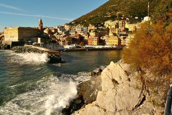 Am Hafen von Nervi bei Genua