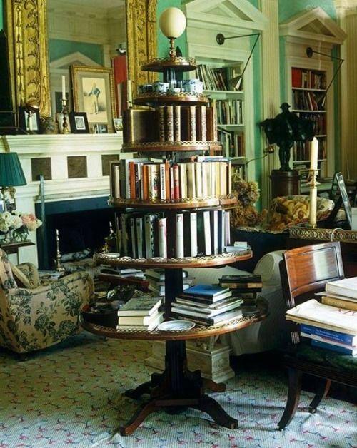 ebookfriendly:  This Louis XIV etagere serves as a bookshelf carousel / via Linda in Va. http://ebks.to/1q7fBxB