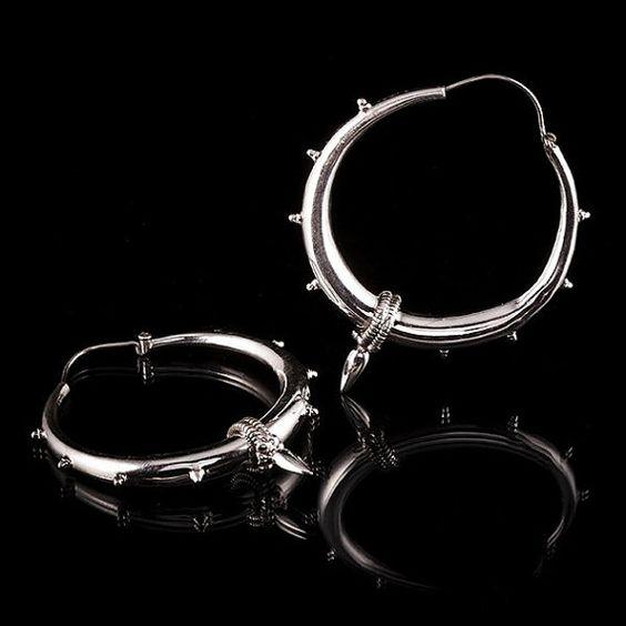 SLIM NOMAD Silver EarringsTribalik JewelleryTribal by TRIBALIK