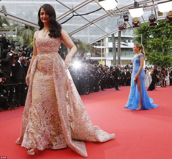 Beauties: Actresses Aishwarya Rai Bachchan joined Blake at the premiere in a floor-length ...: