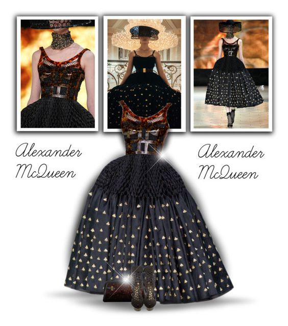 """Alexander McQueen SS 2013"" by bliznec-anna ❤ liked on Polyvore featuring Alexander McQueen"