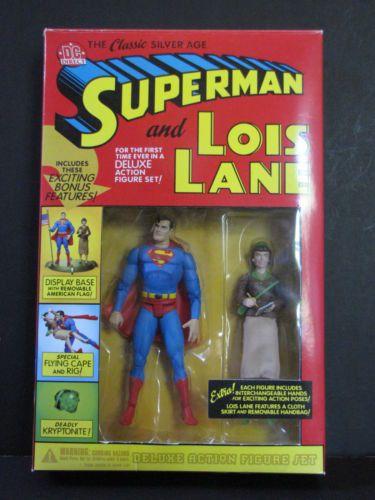 SUPERMAN Lois Lane SILVER AGE DC Direct ACTION FIGURES Comic Justice League JLU