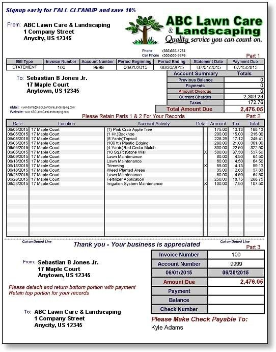 Gardening Invoice Template Ten Things You Probably Didn T Know About Gardening Invoice Te Invoice Template Lawn Maintenance Schedule Lawn Care Business