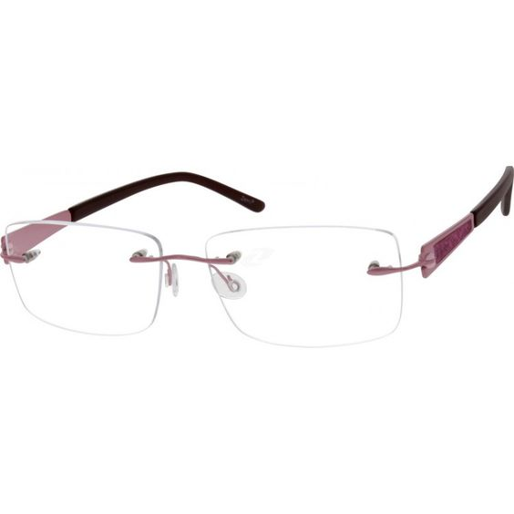 Rimless Glasses Lens Shape : A titanium rimless frame for women with adjustable ...