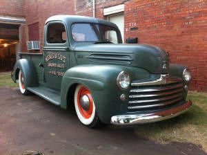 1947 Ford Pickup With 47 Car Front Sheet Metal Fordclassiccars Classic Cars Trucks Ford Pickup Trucks Classic Trucks