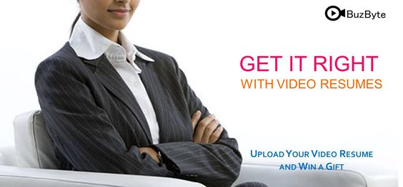 Get it right with video resume Upload your #videoresume and win a - upload resume