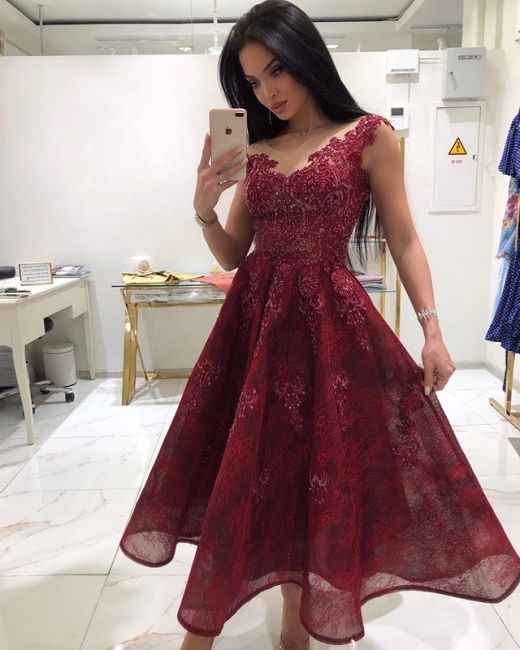 Designer Rote Cocktailkleider Online Spitze Abendkleider Kurz Kaufen In 2020 Abendkleid Cocktailkleid Cocktailkleider Online