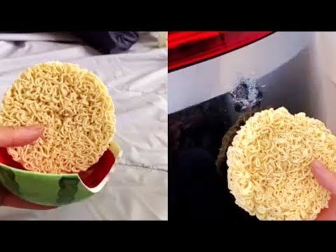 Incredible People Use Instant Ramen Noodles To Repair Desktop