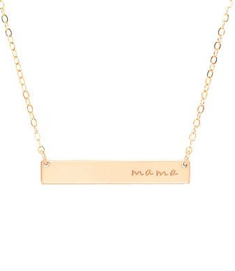 gold bar 'mama' necklace