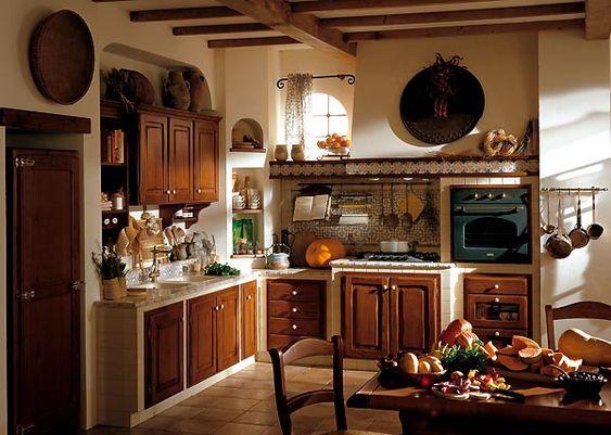 Cucina Anna - Cucine country in castagno   cucina in muratura ...