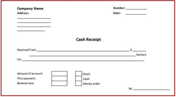 Money Receipt Sample Format Samplescsatco