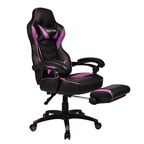 Elecwish Computer Gaming Chair With Footrest For Adults And Kids High Back Video Game Chair With Lumbar Support Ergon Gaming Chair Reclining Office Chair Chair