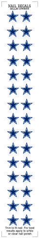 Dallas Cowboys Nail Sticker Decals (2 Pack)