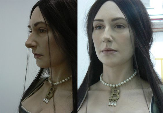 Anne Boleyn facial reconstruction, THIS is so very fascinating. It is amazing to be able to put a face to such an infamous person in History.
