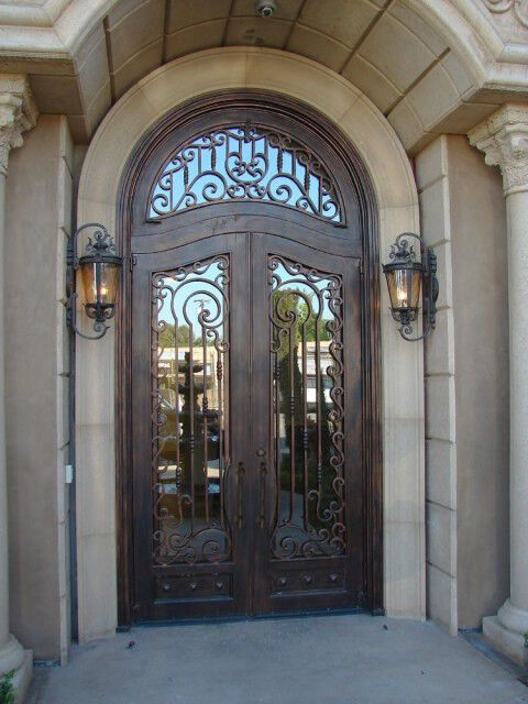 Per Square Foot Exceptional Doors Hand Crafted In 12 Gauge Wrought Iron By Monarch Custom Doors El111 Iron Doors Wrought Iron Doors Wrought Iron Front Door