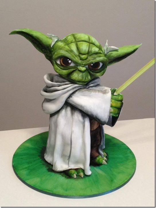 Awesome Clone Wars Yoda Cake made by Jazzy Cakes by Hanie Oag: