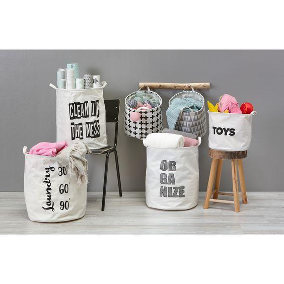 Berg je spullen mooi op in deze leuke opbergzakken welke tekst vind jij het leukst opbergen - Berg wandlamp ...
