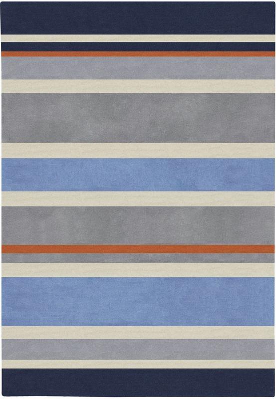 Gray Blue Stripes Rug Boys Bedroom Ideas And Striped Rug