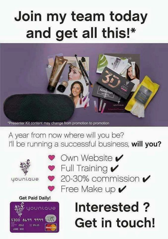 I'm recruiting for my team ❤ I'm looking for you ❤ Want info? Message me ❤ Youniqueproducts.com/DonnaHanna1