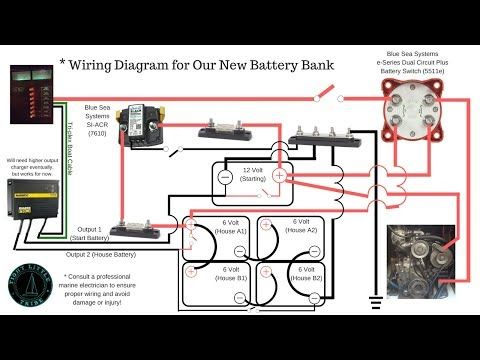 How To Battery Charger Bank Diagrams 6 Volt Batteries In Series Parallel Blue Sea Systems Acr Youtube Battery Boat Wiring Series Parallel