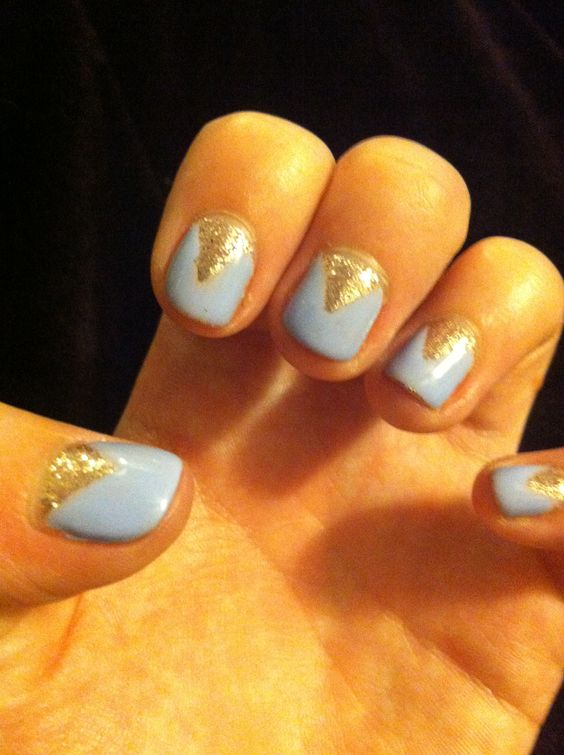 Lilac & gold #nails